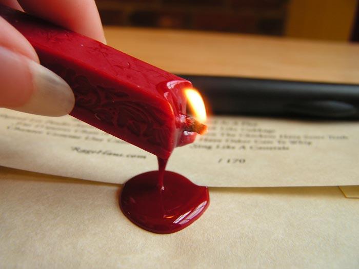 Как сделать печать сургучную своими руками